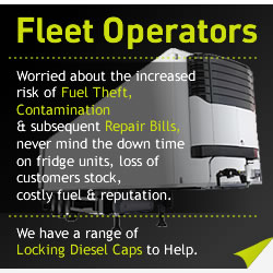 bulk locking diesel caps for fleet operators